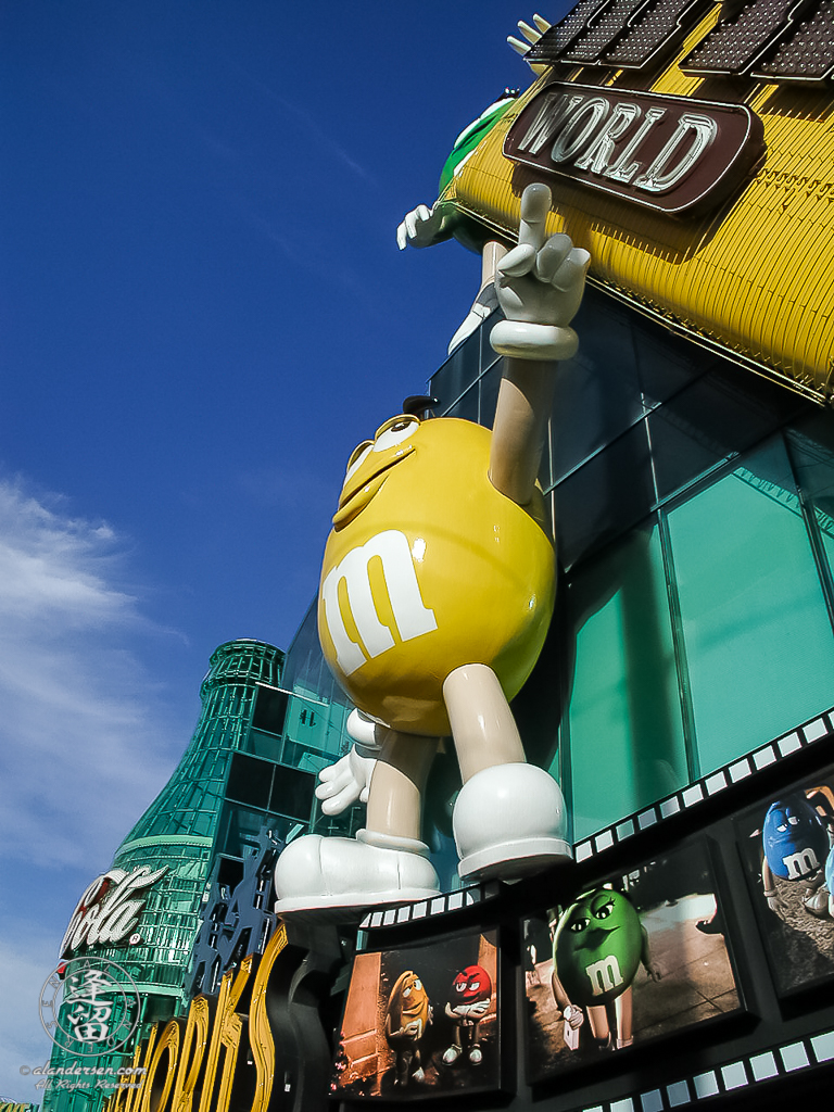 M&M storefront in Las Vegas, Nevada.