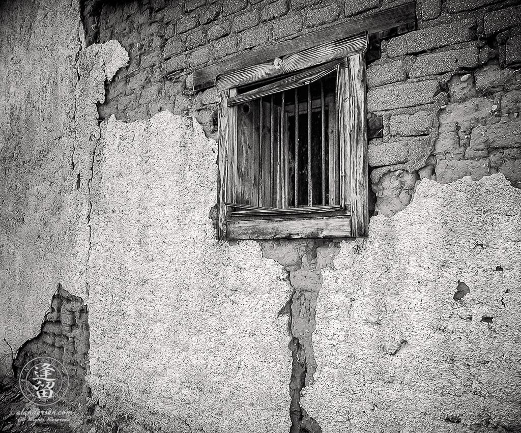 Fairbank Arizona jail window and bars.