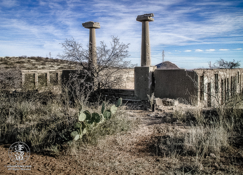 Remains of school in Gleeson, Arizona.