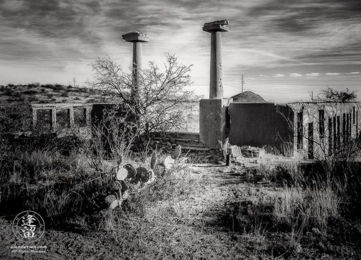 Remains of school in Gleeson, Arizona.