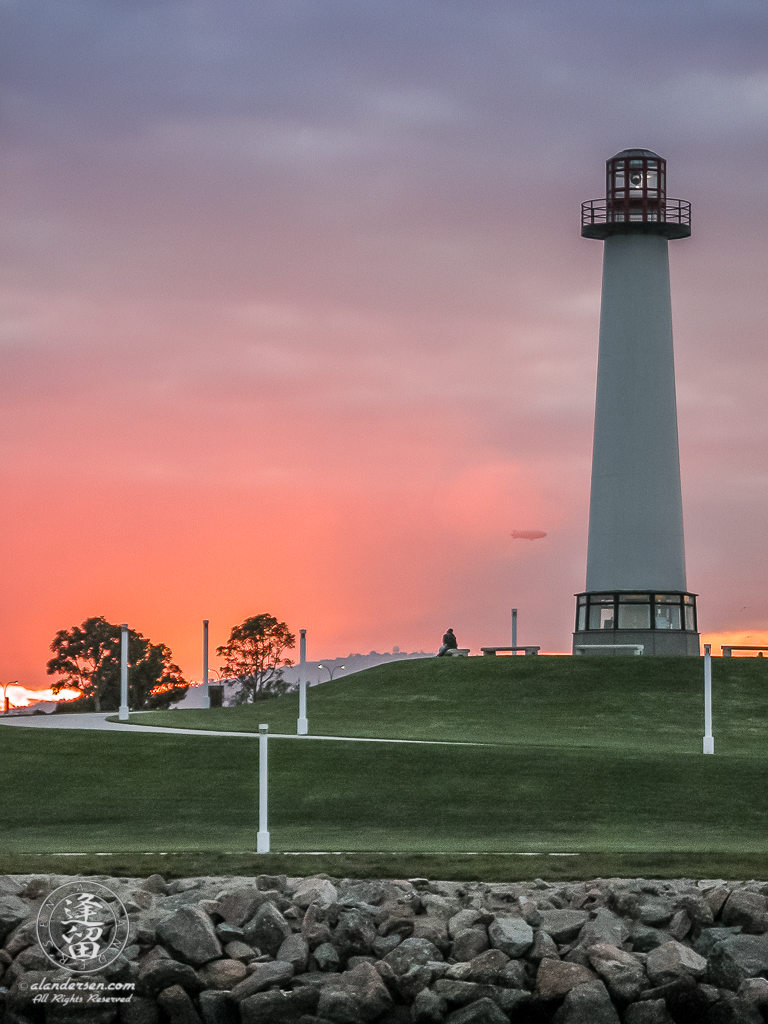 Lion's Lighthouse For Sight at sunset.