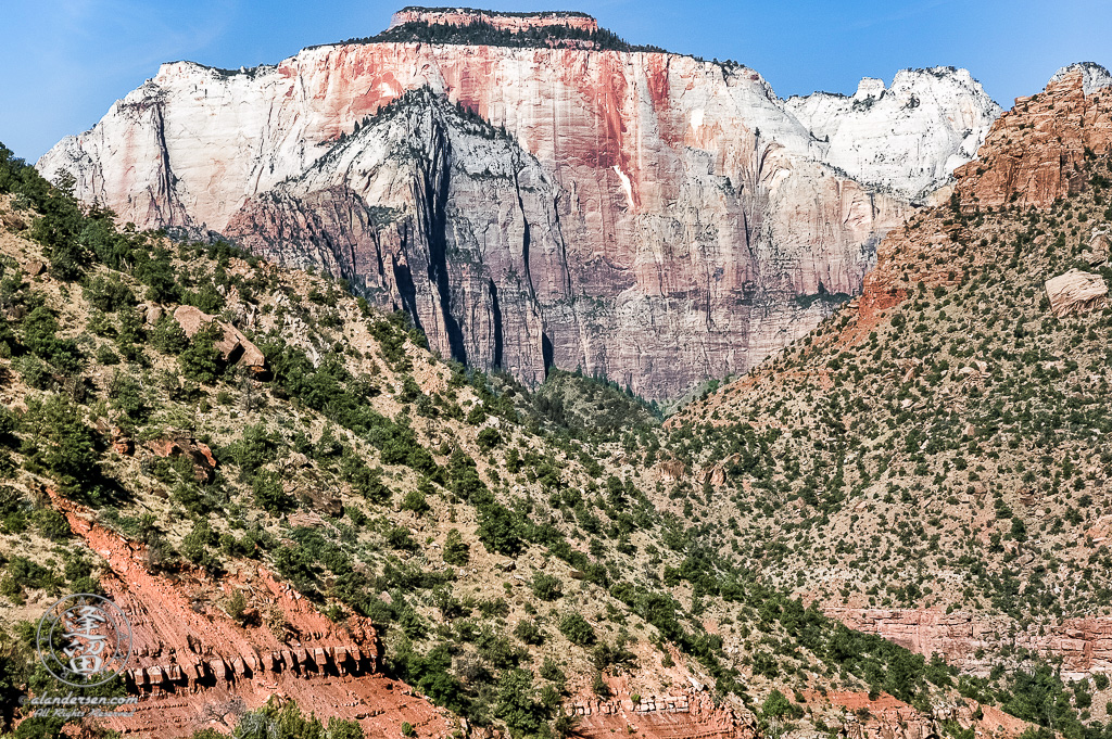 The West Temple in  Zion National Park.