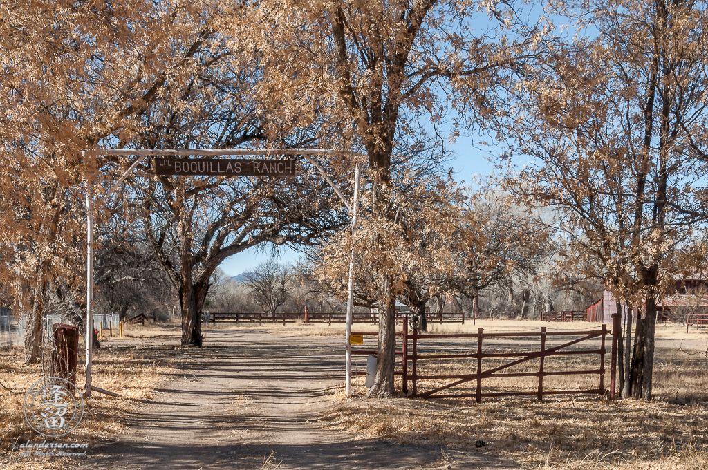 Lil Boquillas Ranch entrance near Fairbank, Arizona.
