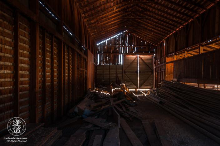 Barn interior at the Lil Boquillas Ranch property near Fairbank, Arizona.