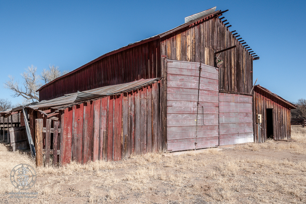 Feront side of Barn at the Lil Boquillas Ranch property near Fairbank, Arizona.