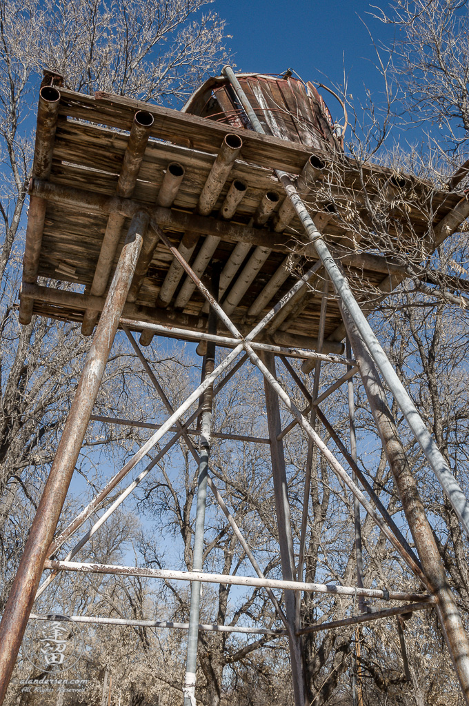 The Water Tower, circa 2010, at the Lil Boquillas Ranch property situated in the San Pedro Riparian National Conservation Area near Fairbank, Arizona.