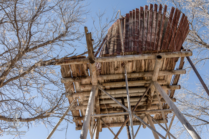 Water Tower at the Lil Boquillas Ranch property near Fairbank, Arizona.