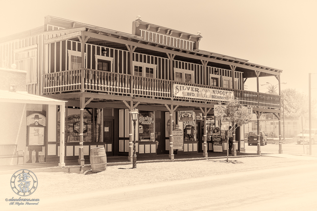 Restored old Western brothel called the Silver Nugget.