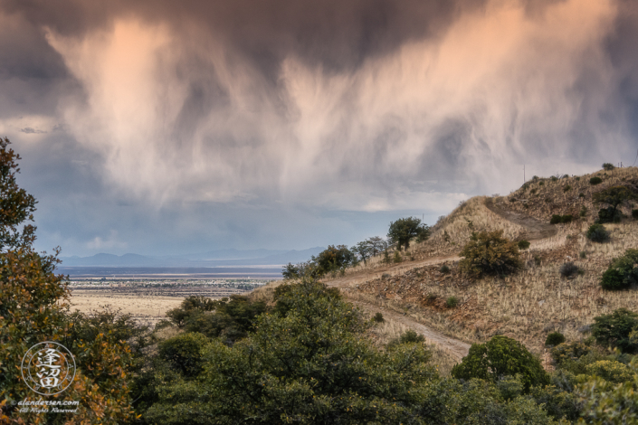 Spring rain storm dumps moisture on parched San Pedro River Valley in Southeastern Ariona,