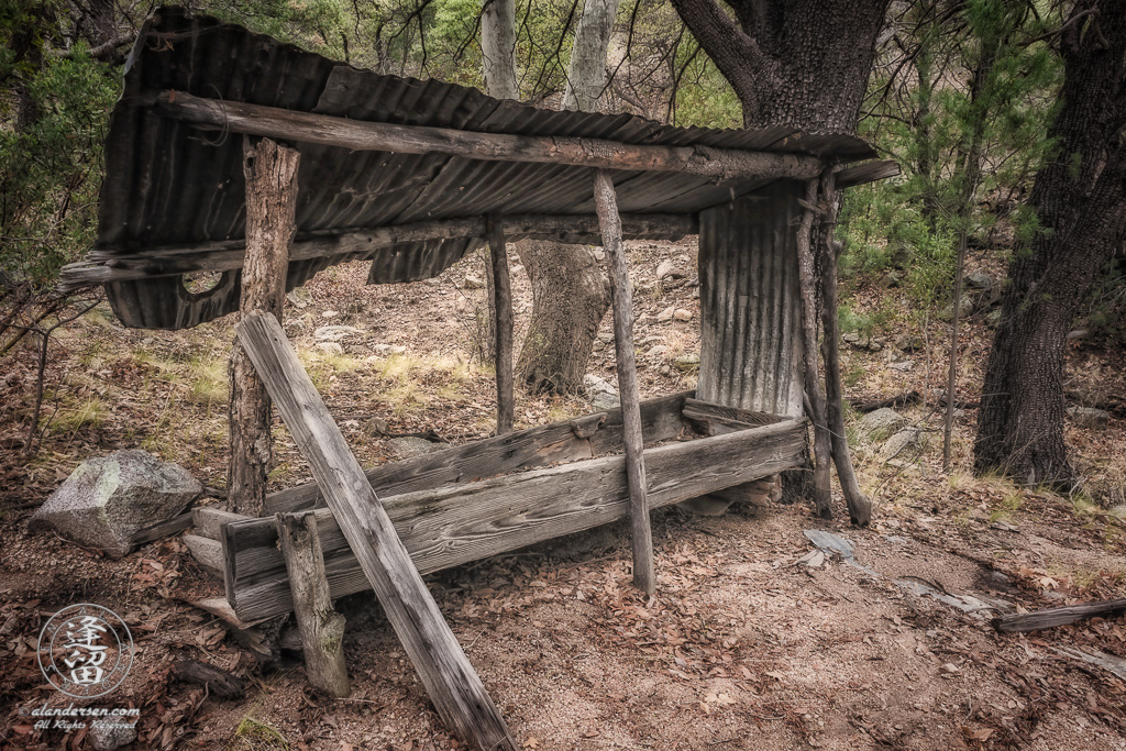 An old sluice used for panning ore. Located in Brown Canyon outside of Sierra Vista, Arizona.