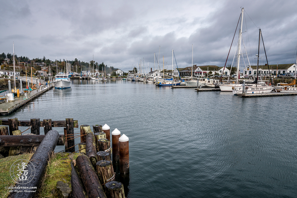 Scenic view of the marina at Port Townsend, on the Washington Olympic Peninsula
