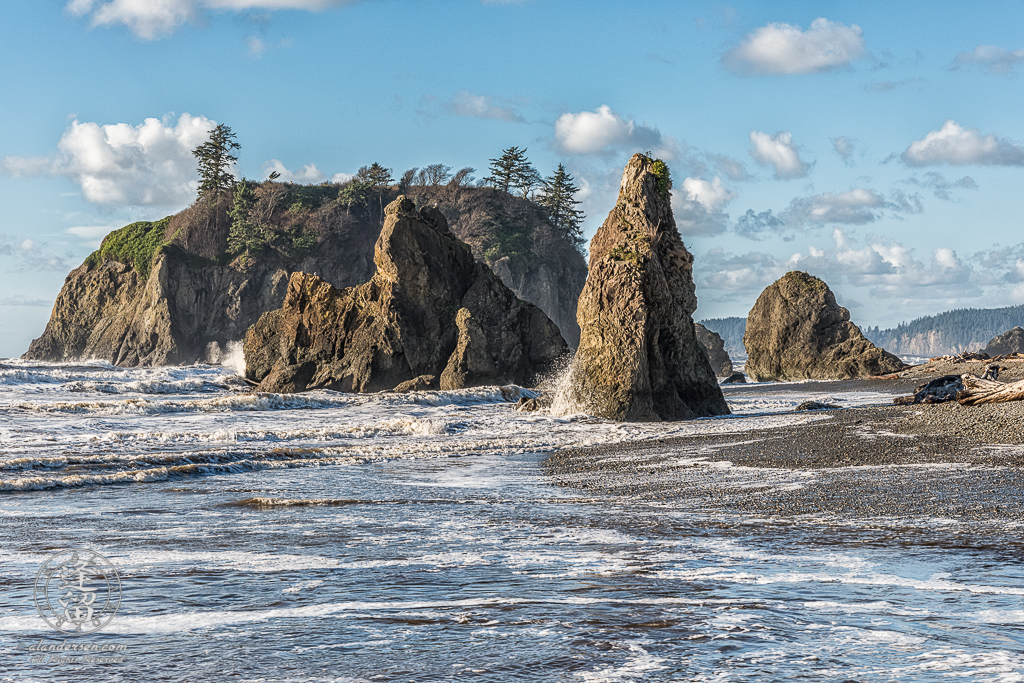 Sea stacks at Ruby Beach on Washington's Olympic Peninsula.