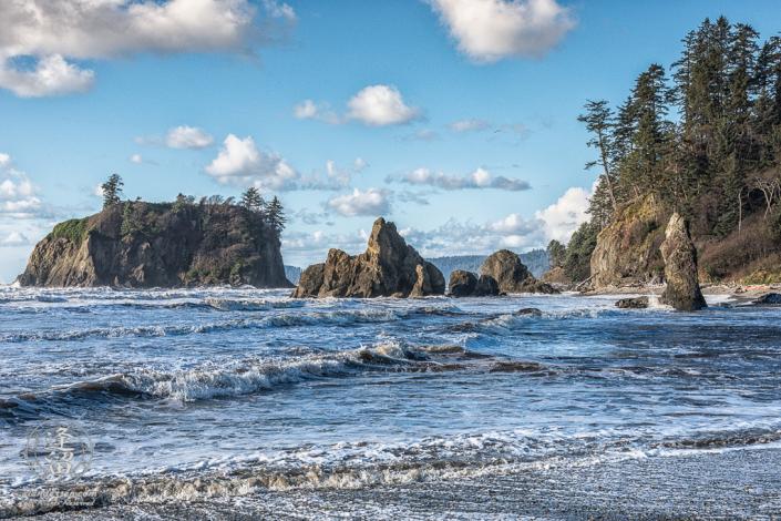 Sea stacks at Ruby Beach on Washington's Olympic Peninsula.