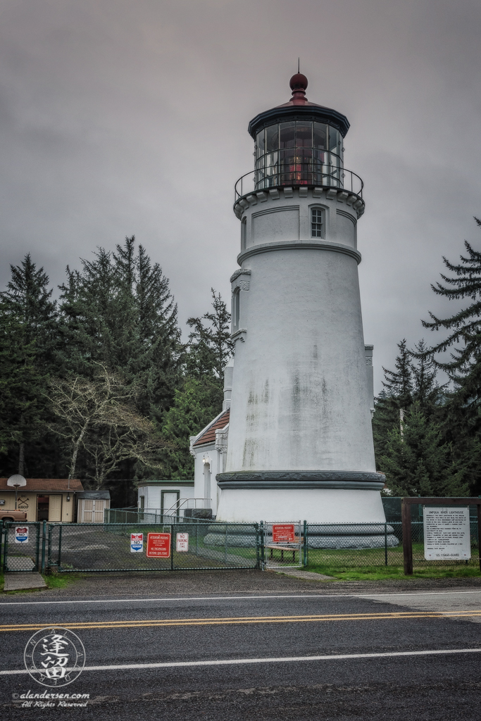 65-foot Umpqua River Lighthouse, overlooking Winchester Bay in Oregon.