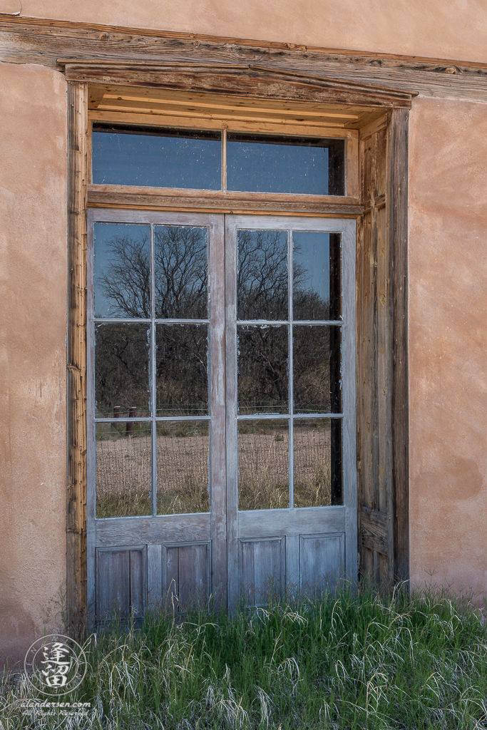 The doorway into the Saloon area of the Adobe Commercial Building in the old ghost town of Fairbank, near the banks of the San Pedro River in Southeastern Arizona.