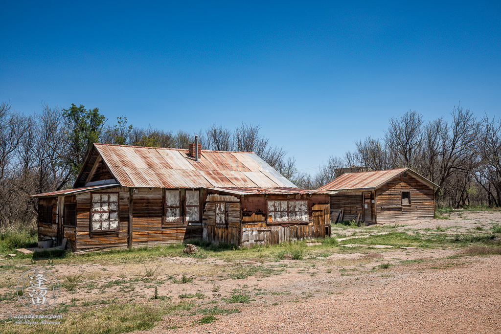 Old weathered wooden house in Southeastern Arizona ghost town of Fairbank.