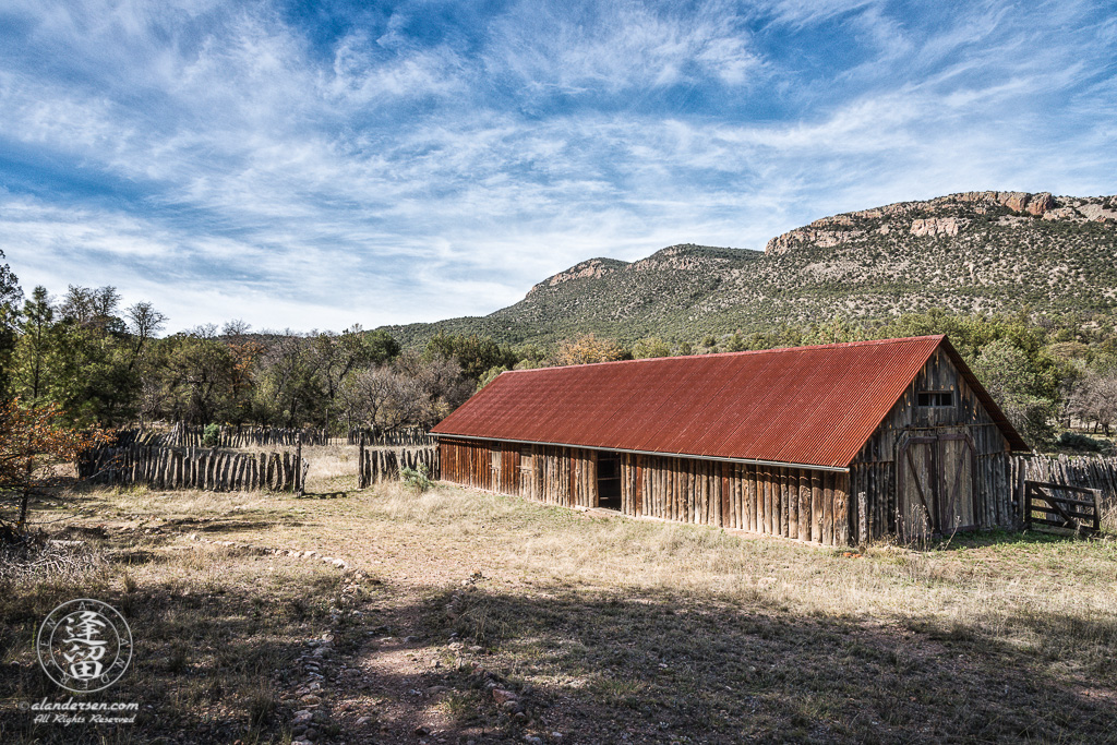 Barn at Camp Rucker near Douglas, Arizona.