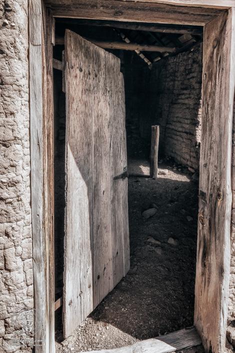 Doorway leading into Bakery at historic Camp Rucker outside of Douglas, Arizona.
