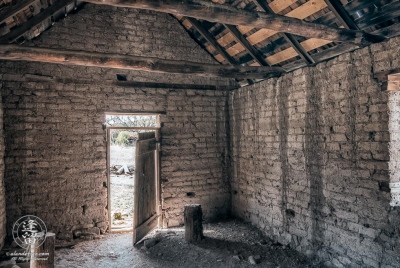 Interior of the Bakery building at historic Camp Rucker outside of Douglas, Arizona.