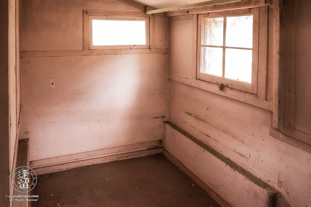 Small bedroom in ranch house at Camp Rucker in Arizona.
