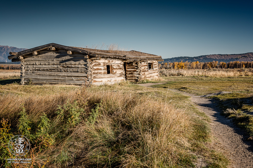 The historical J. Pierce Cunningham Cabin in Grand Teton National Park, Wyoming.