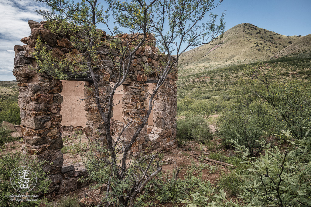Ruin at old ghost town of Courtland in Southeastern Arizona.