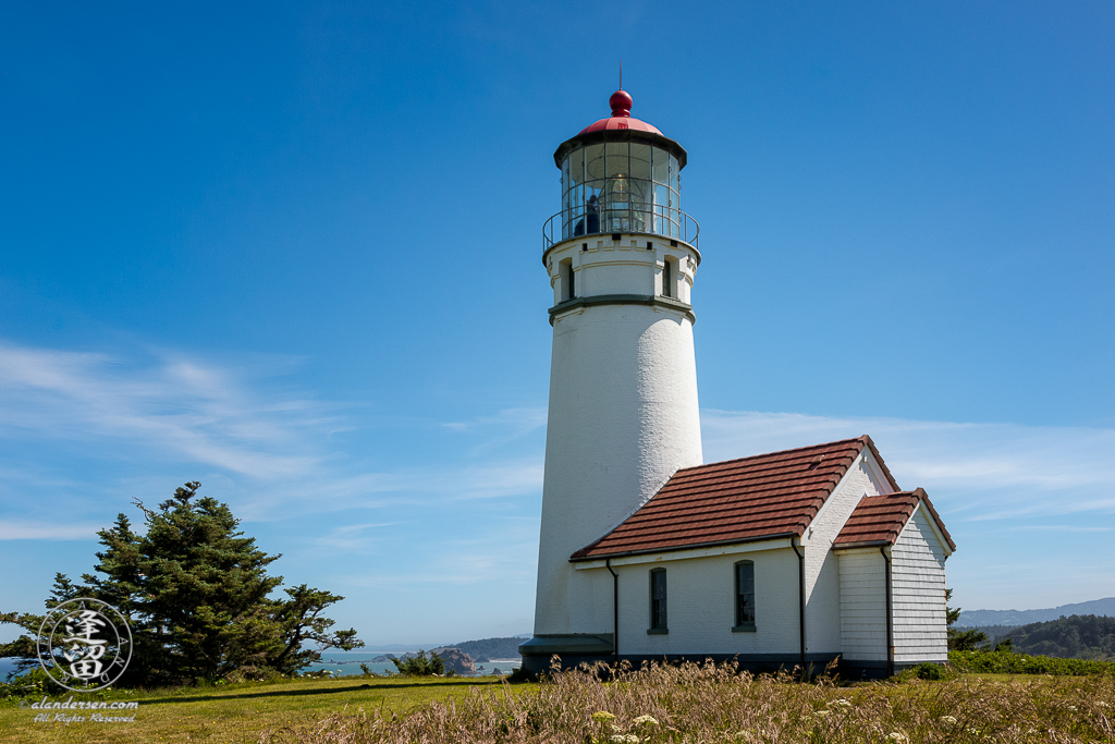 Scenic view of Cape Blanco Light house at Cape Blanco State Park, Northwest of Port Orford in Oregon.