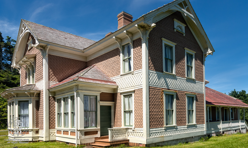 Outside view of historic Hughes House near Port Orford, Oregon.