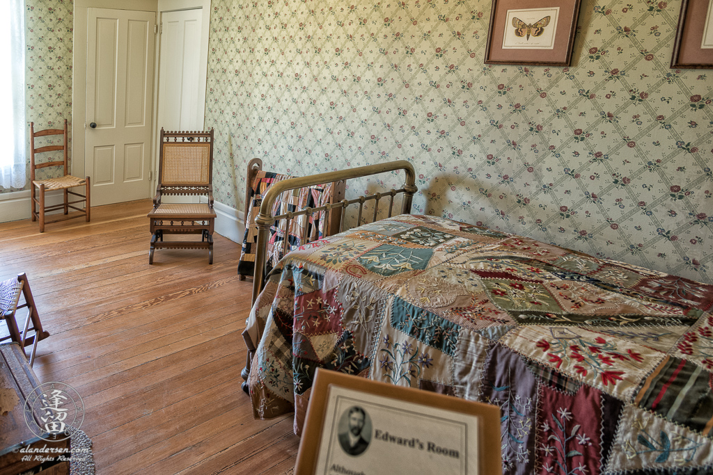 Bedroom of Edward Hughes, oldest of the Hughes sons, who managed the farm after the death of the family patriarch, Patrick Hughes.
