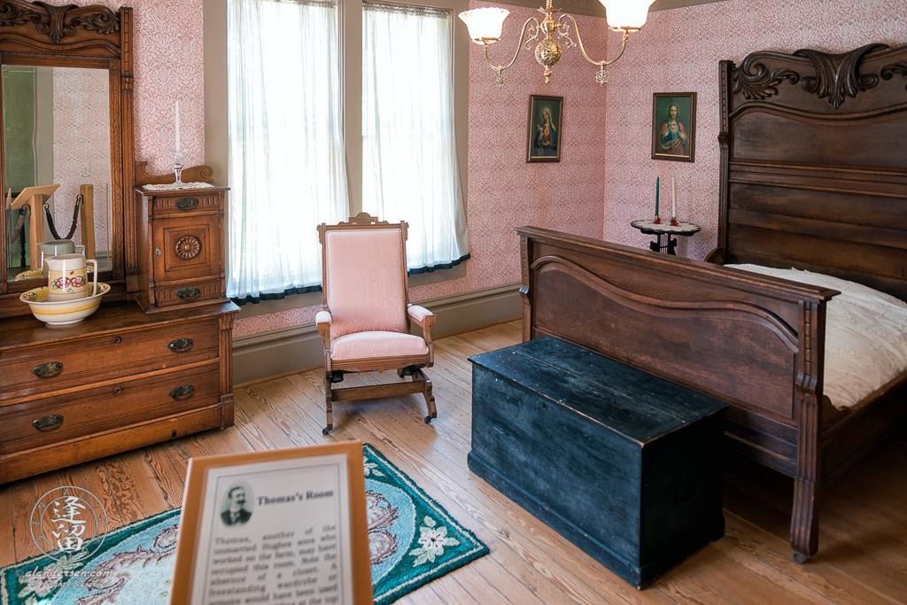 Thomas Hughes Bedroominside the Hughes House near Port Orford, Oregon.