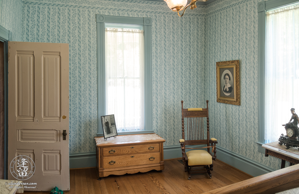 Master Bedroom of the Hughes House near Port Orford, Oregon.