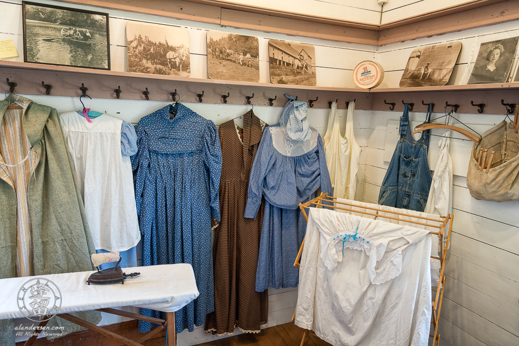 Laundry Room of the Hughes House, a historic Victorian pioneer home near Port Orford in Curry County, Oregon.
