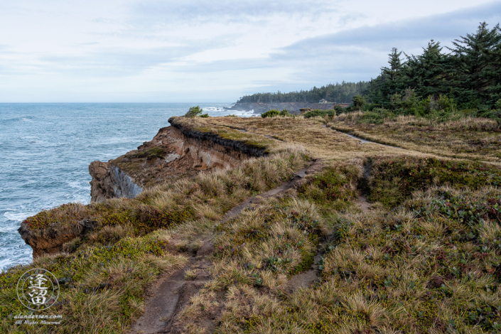 The Pacific Coast Trail, looking North toward Shore Acres, outside of Charleston in Oregon.