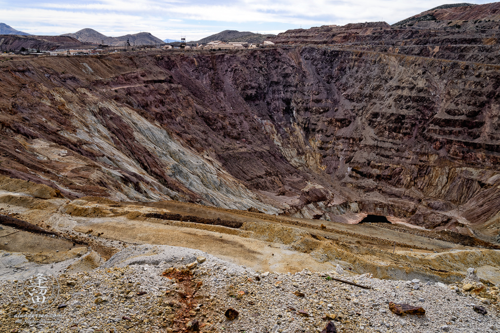 Lavender Pit copper mine in Bisbee, Arizona.