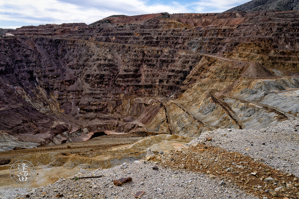 The Lavender Pit copper mine in Bisbee, Arizona.